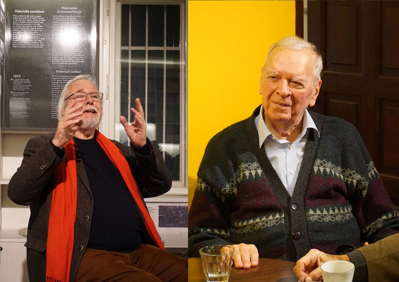Jürgen Serke (links) und Milan Uhde. Foto: Konstantin Kountouroyanis