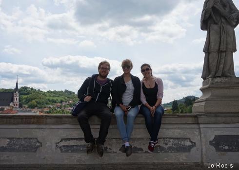 Die Reisegruppe auf der Sattelbrücke