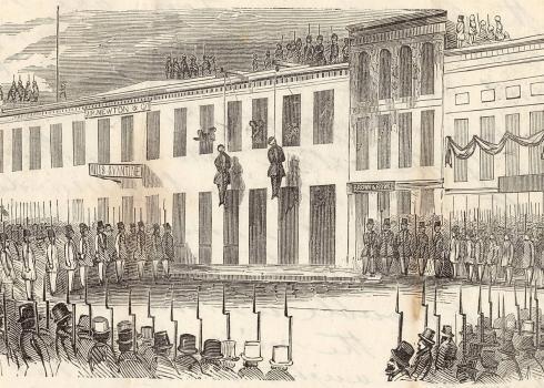 Lynchjustiz in den USA. Bild: Charles Huestis (San Francisco 1856)